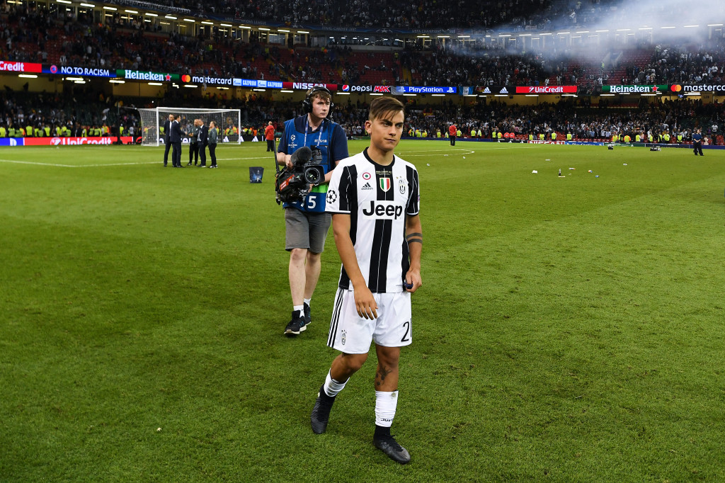 A disconsolate Paulo Dybala after June's Champions League final defeat.