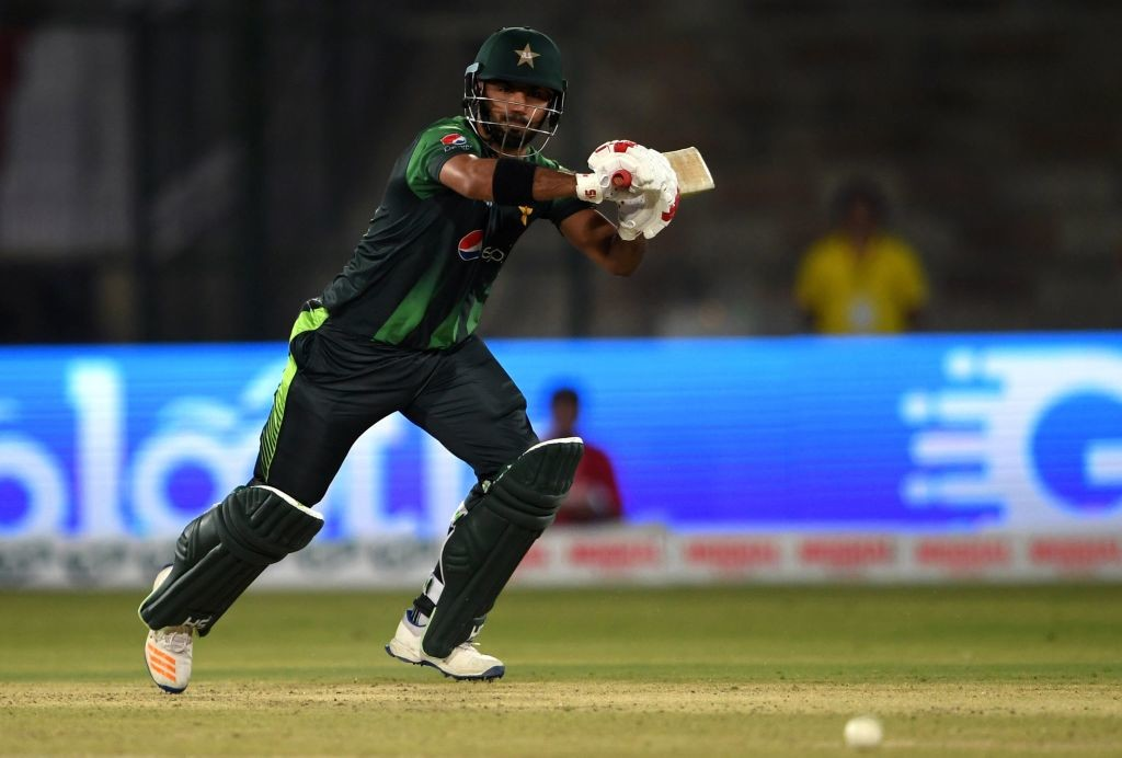 Debutant Hussain Talat top-scored for Pakistan with 41 runs.