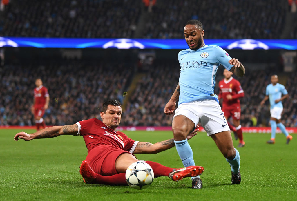 Raheem Sterling in action against Liverpool
