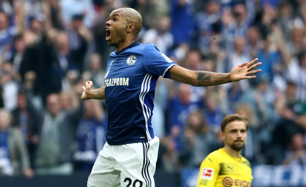 Naldo scored a stunning free-kick for Schalke against Dortmund
