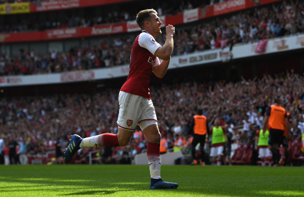 Aaron Ramsey scored Arsenal's second goal against West Ham