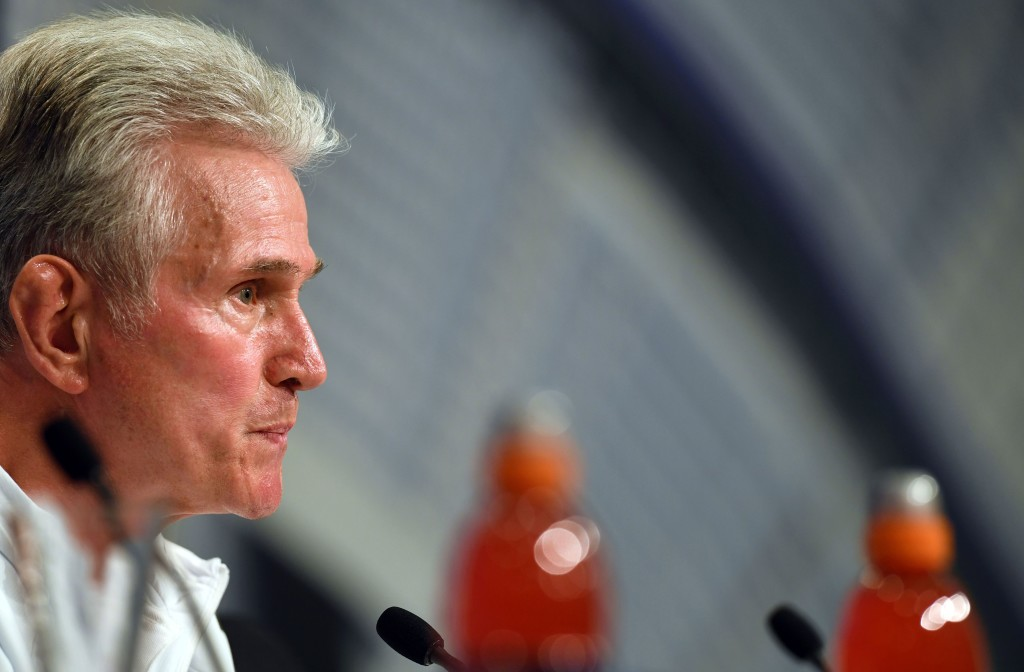 Bayern Munich's German head coach Jupp Heynckes listens during a press conference at the stadium in Munich, southern Germany, on April 24, 2018 on the eve of the UEFA Champions League first leg semi-final football match between Bayern Munich and Real Madrid. (Photo by Christof STACHE / AFP) (Photo credit should read CHRISTOF STACHE/AFP/Getty Images)