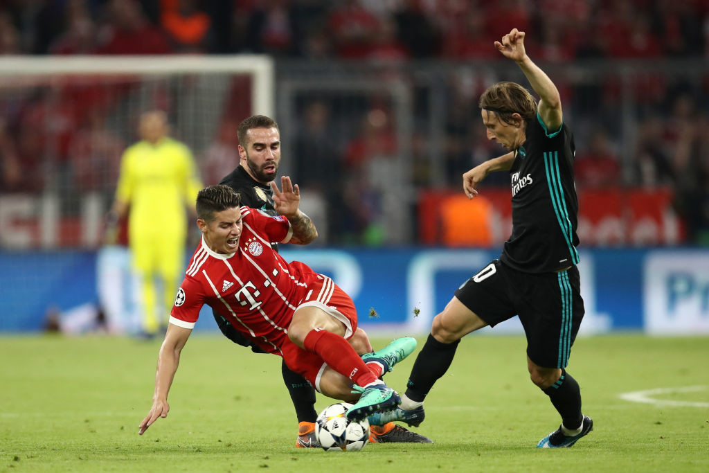 James Rodriguez makes on his four tackles