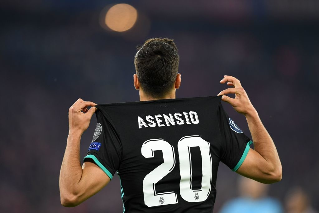Marco Asensio celebrates