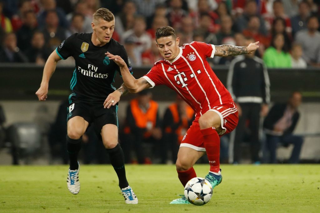 Toni Kroos and James Rodriguez
