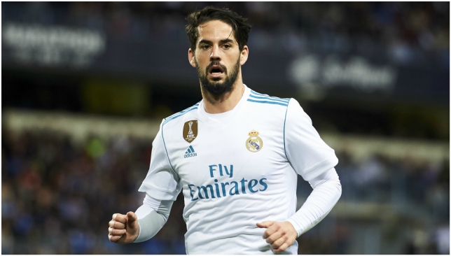 Isco injured his shoulder in the first leg against Bayern.