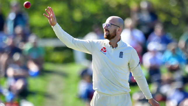 Jack Leach had his emotional moments during the game