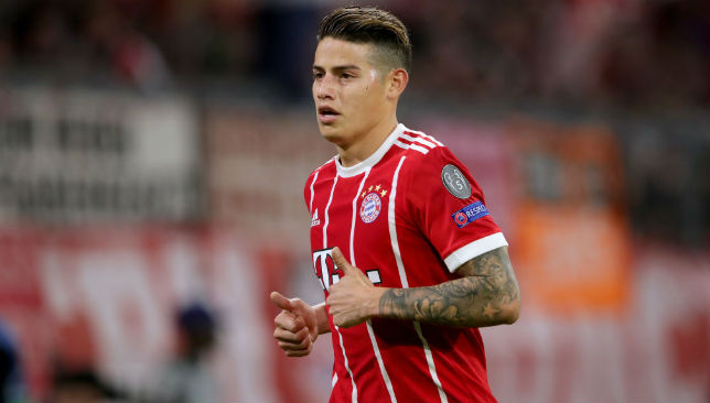 James Rodriguez of Bayern Muenchen