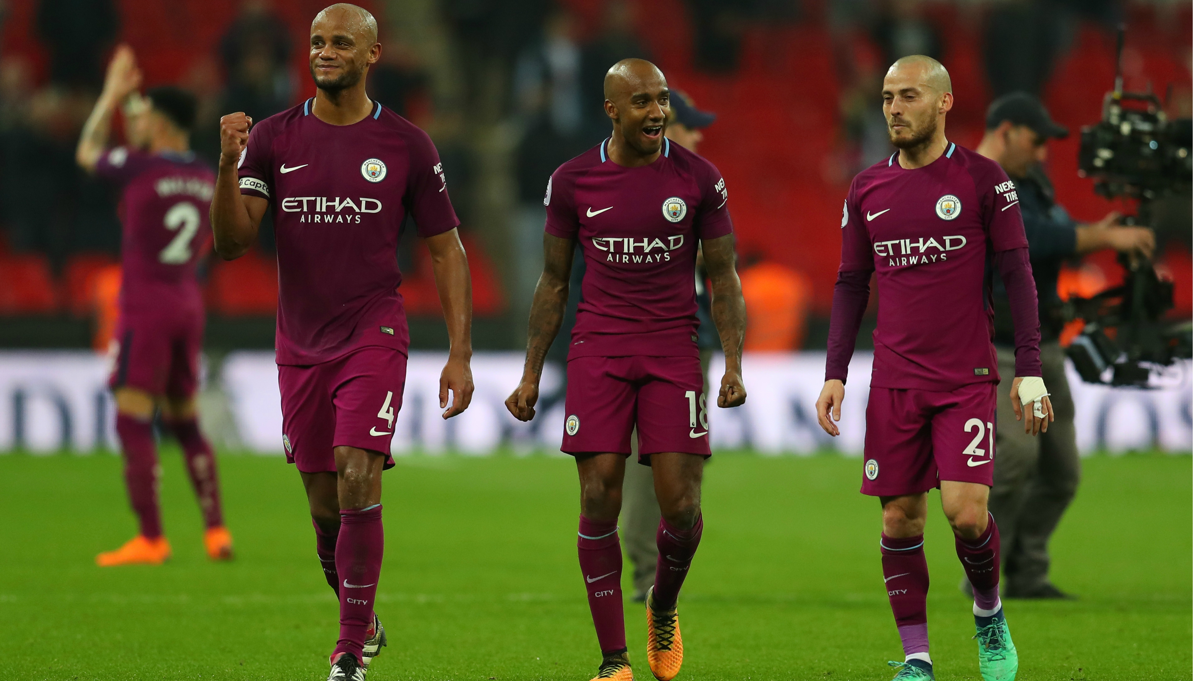 Kompany celebrates City title with emotional speech