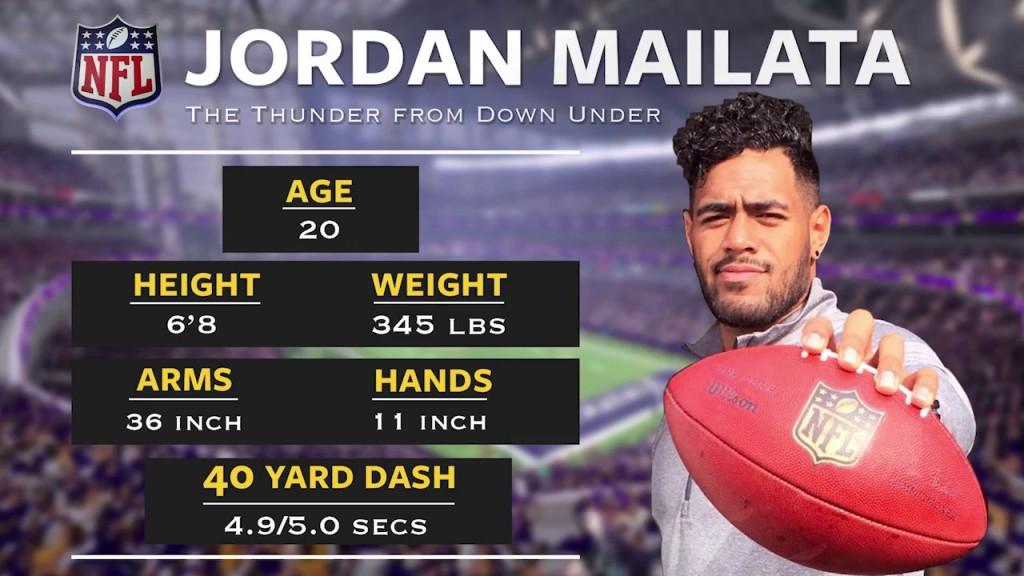 Jordan Mailata draft stats