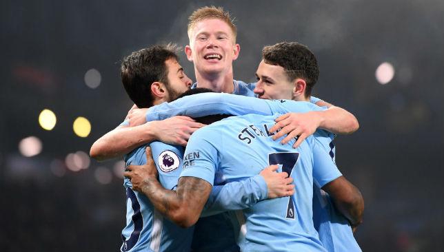 Manchester City celebrate 1