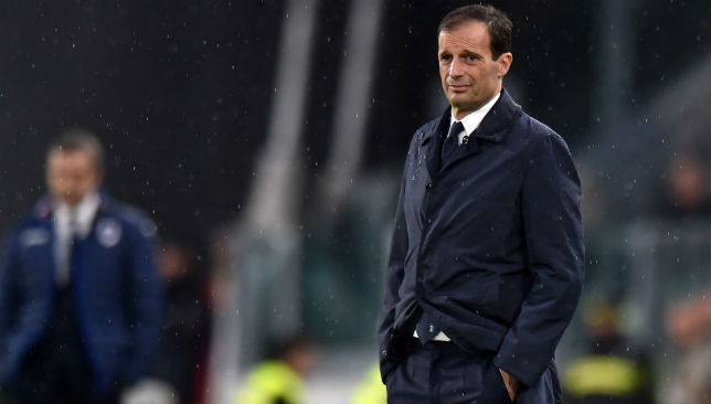Massimiliano Allegri of Juventus looks on