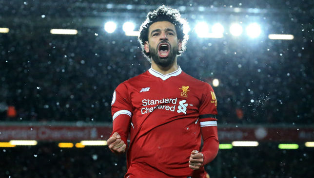 Mohamed Salah celebrates 1