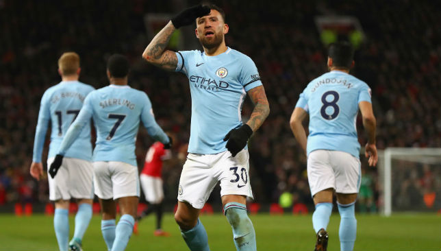 Nicolas Otamendi of Manchester City celebrates