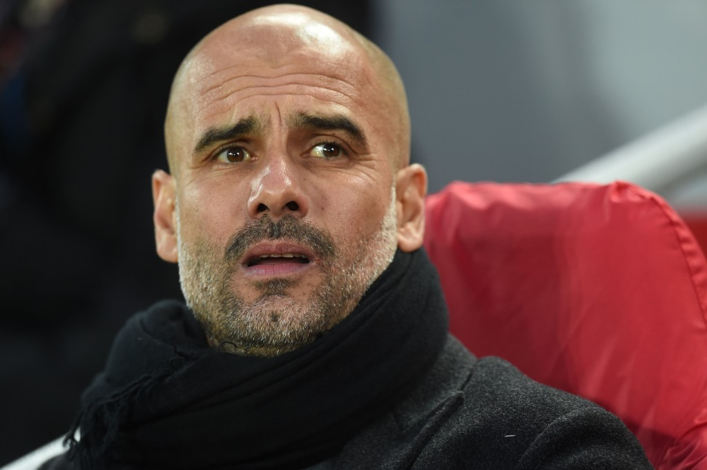 Pep Guardiola looks on with mounting dread during the Liverpool loss