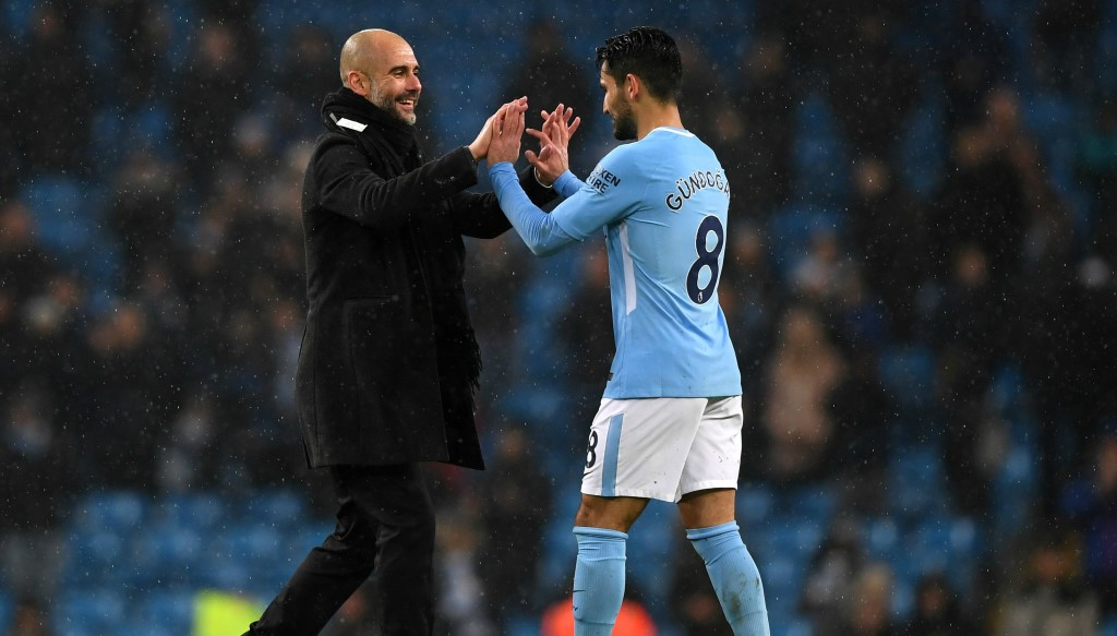 Gundogan was Guardiola's first signing when he arrived at City.