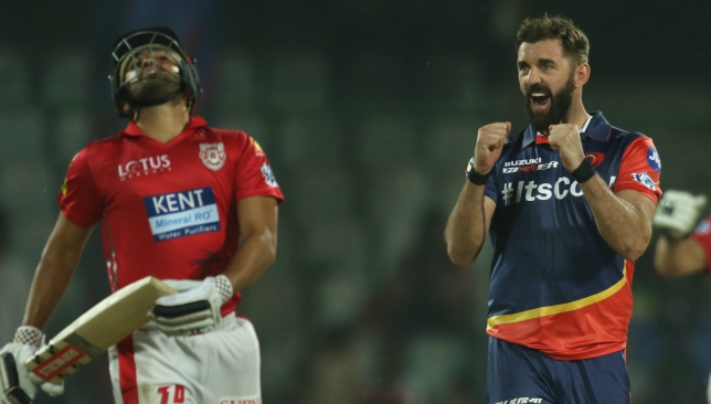 Plunkett took 3-17 from his four overs. Image: BCCI.