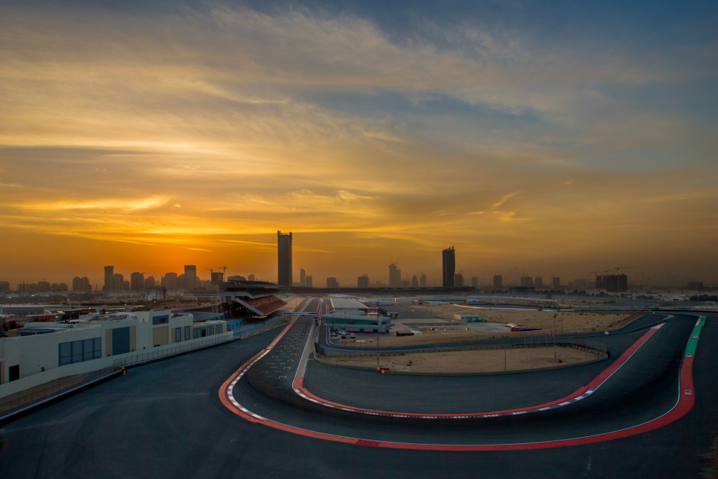 A stunning view over the Dubai Autodrome.