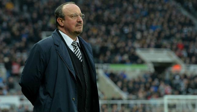 Rafa Benitez on the touch line
