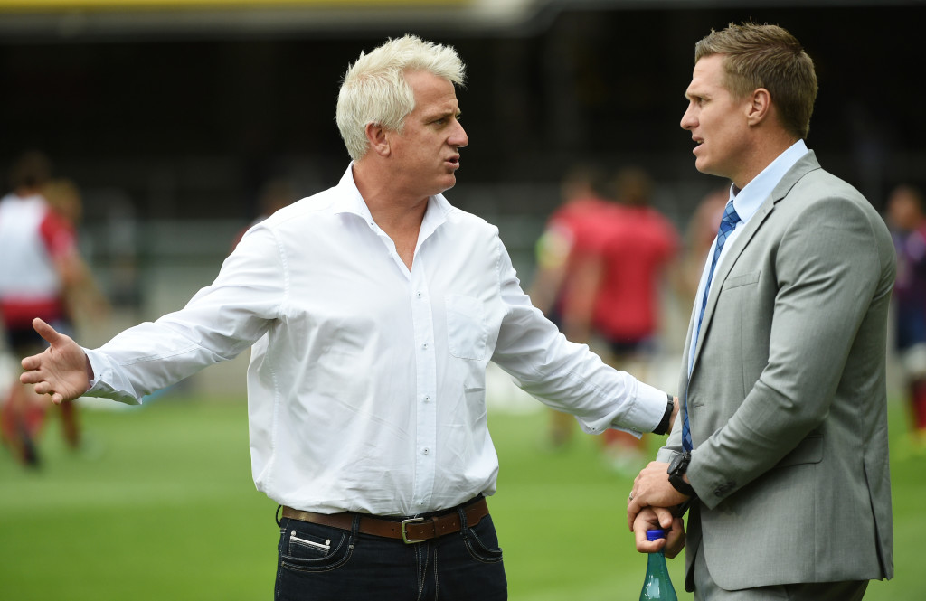 Robbie Fleck (l) and Jean de Villiers - still trying to believe in the Stormers