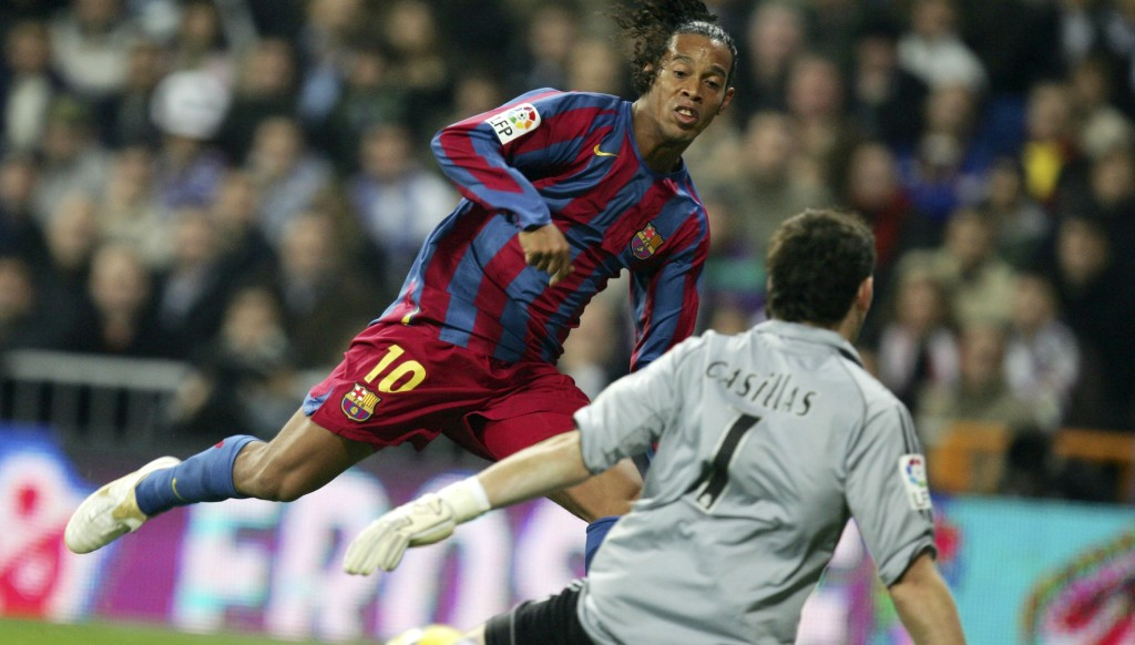 Ronaldinho ripped Real Madrid apart in 2005.