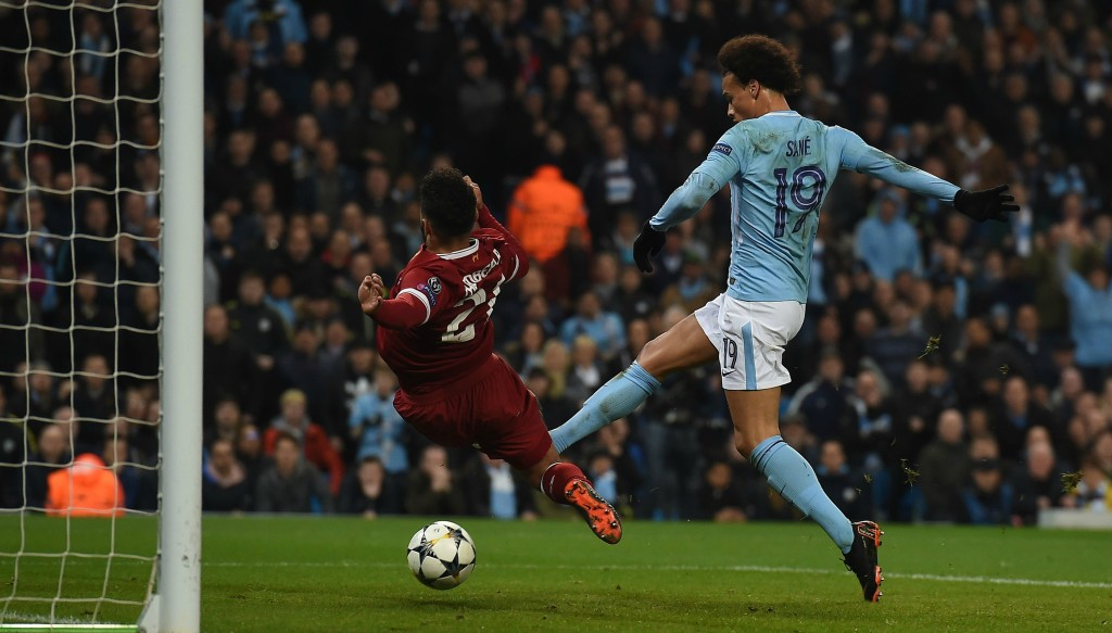 Leroy Sane's goal just before the break was controversially ruled out.