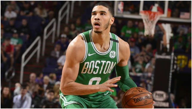Jayson Tatum has shown a mature game in his rookie campaign.