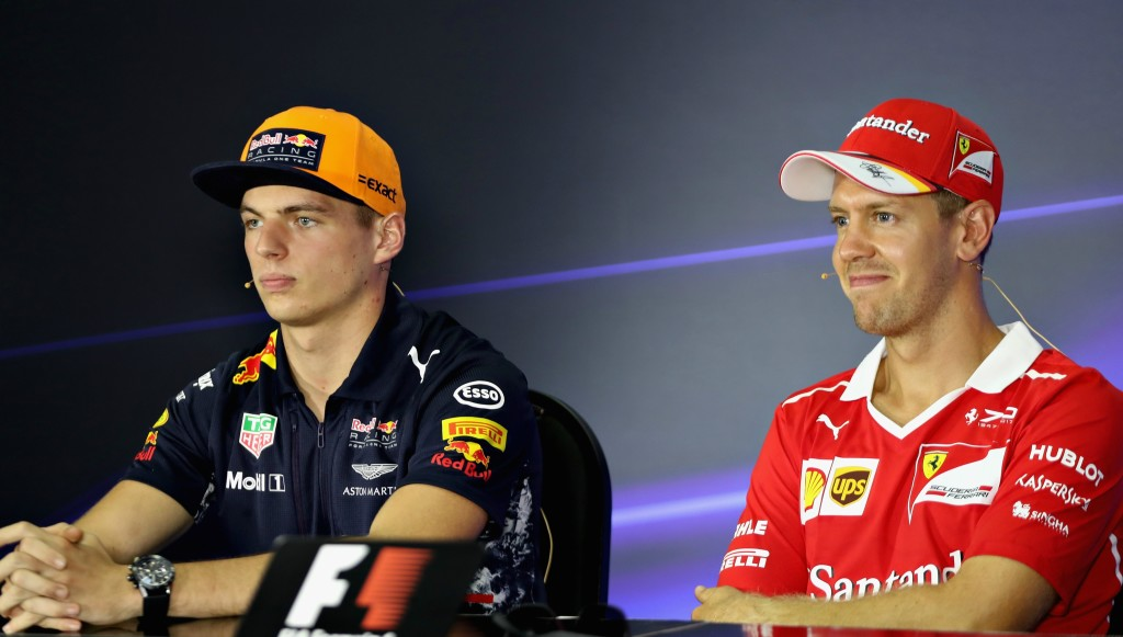 Sebastian Vettel told Verstappen he threw his podium place away.