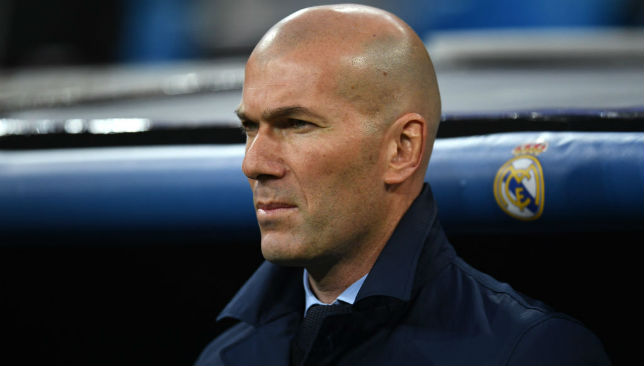 Manager Zinedine Zidane has never lost a game against Malaga.
