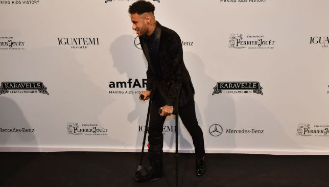 Neymar at a fundraiser ceremony.