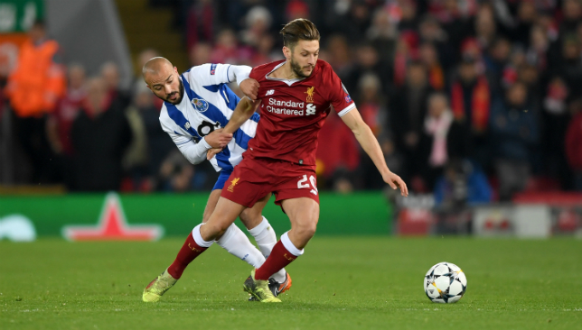Adam Lallana has been out since March.
