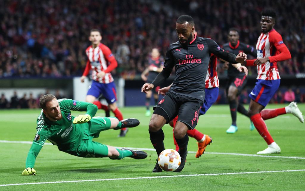 Lacazette missed Arsenal's best chance to score.