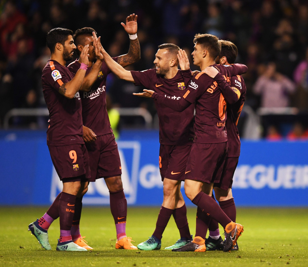 Barcelona continued their unbeaten run with a win against Deportivo last Sunday.