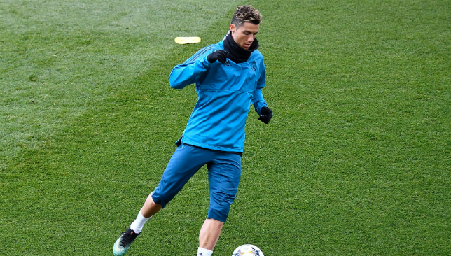 Cristiano Ronaldo to training ahead of the UCL final