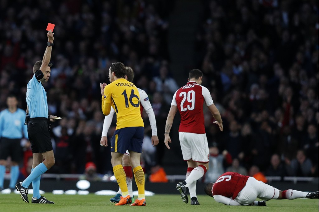 Has Vrsaljko's sending-off against Arsenal cost him a place in Wednesday's starting XI?