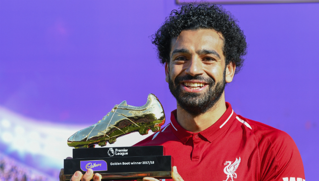 Prolific goalscorers: Salah cited Brazil's Ronaldo as one of his idols.