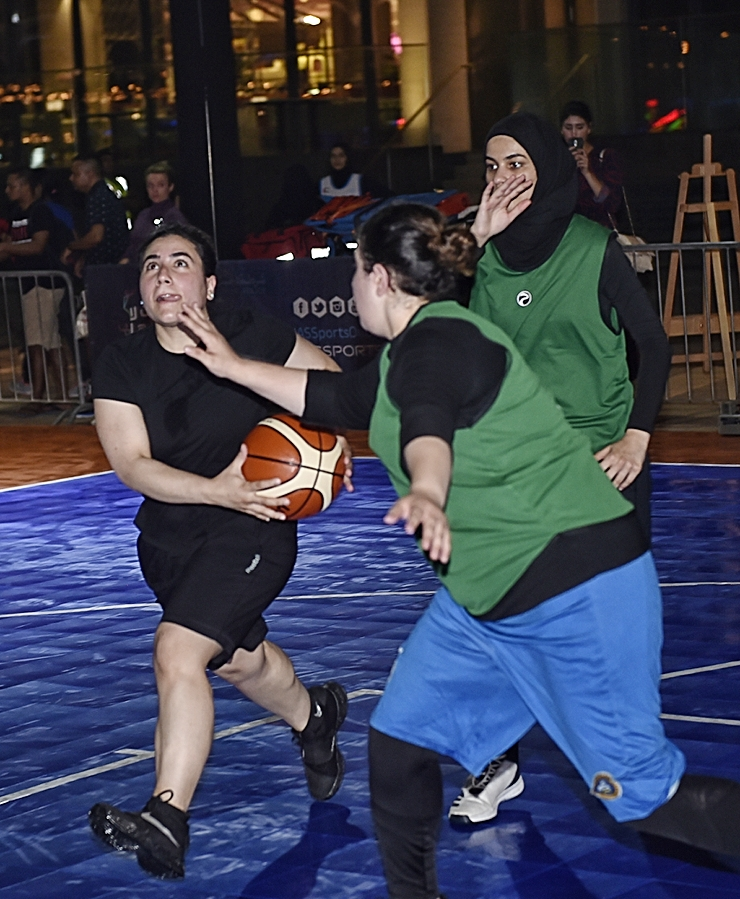 The 3x3 basketball tournament has also got underway.