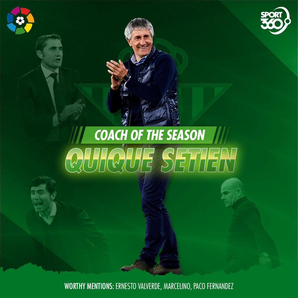 2105 laliga Coach of the season