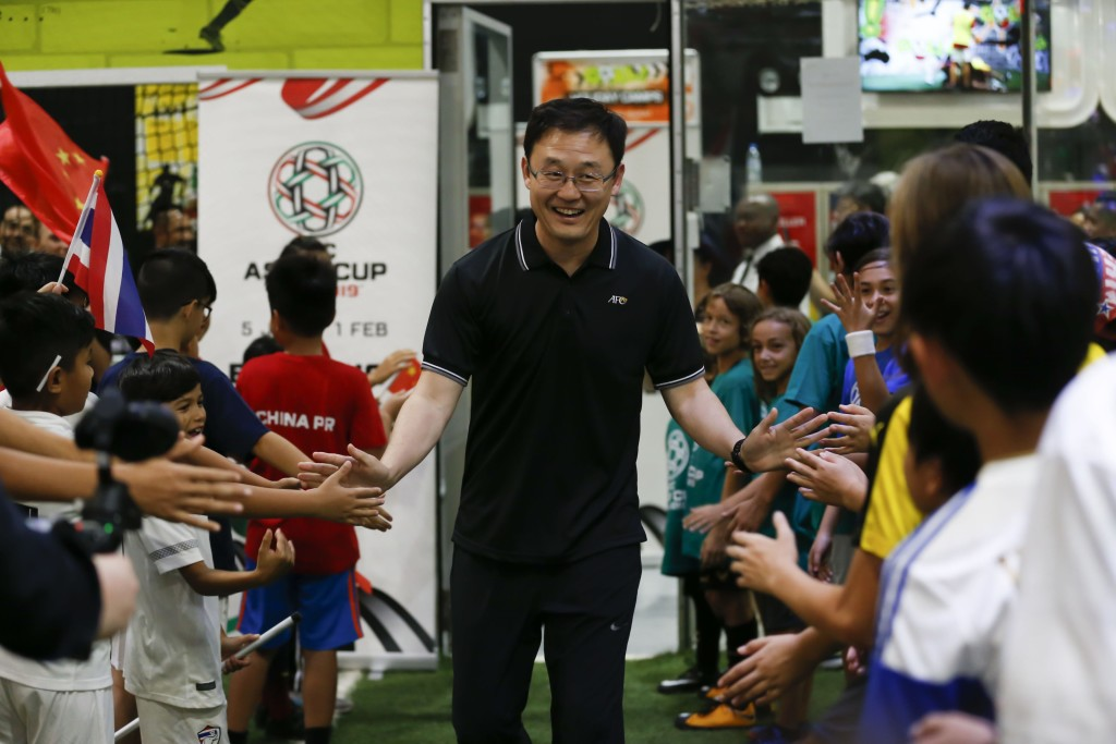 Former China and Man City midfielder Sun Jihai was one of the former stars to take part.