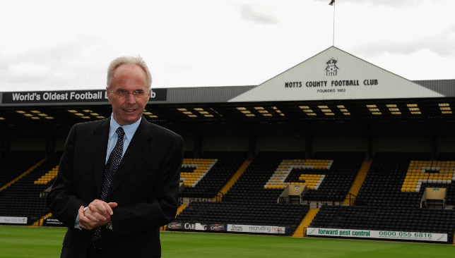 New move: Sven Goran Eriksson