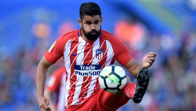Costa controls the ball