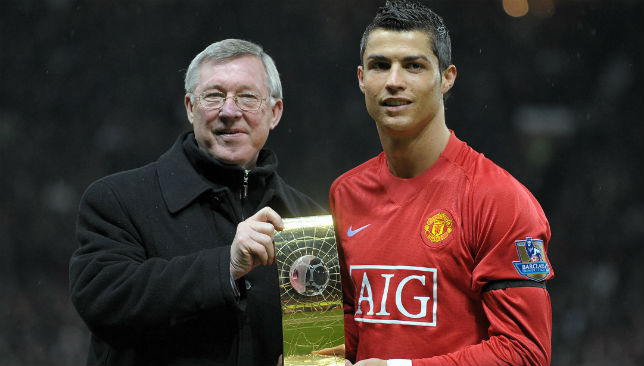 On the same career path? Ronaldo shone after impressing as a teenager against United.