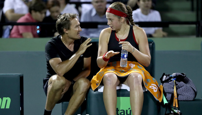 David Taylor with Jelena Ostapenko