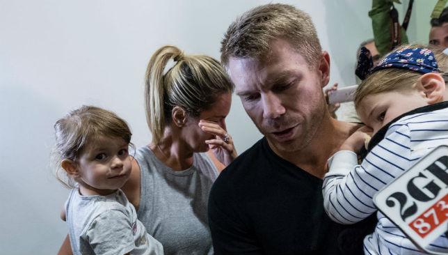 David Warner and family