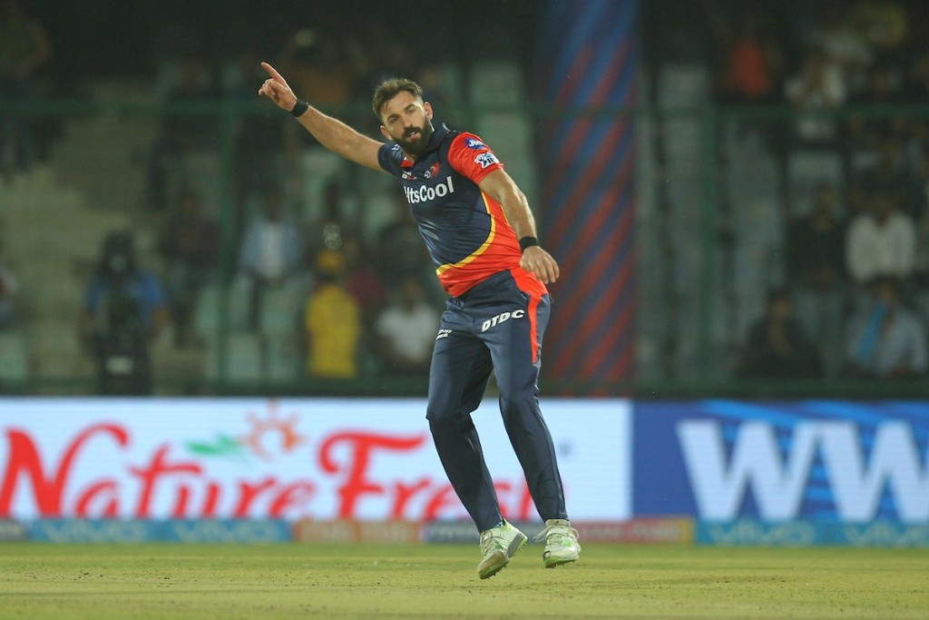 Plunkett was excellent in his IPL debut match. Image - IPL/Twitter.