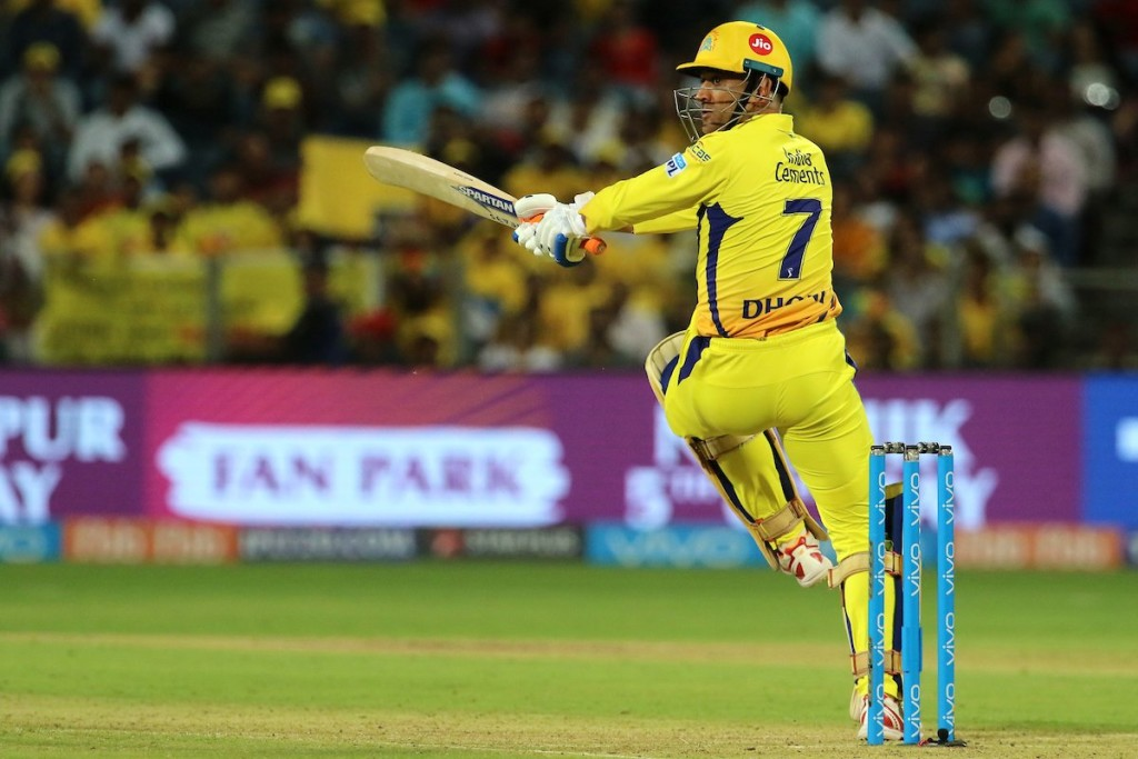 Dhoni was back to his best with the bat too. Image - IPL/Twitter.