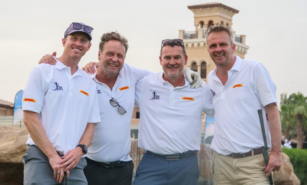 Didi Hamann (r) pictured with his DHL team-mates.
