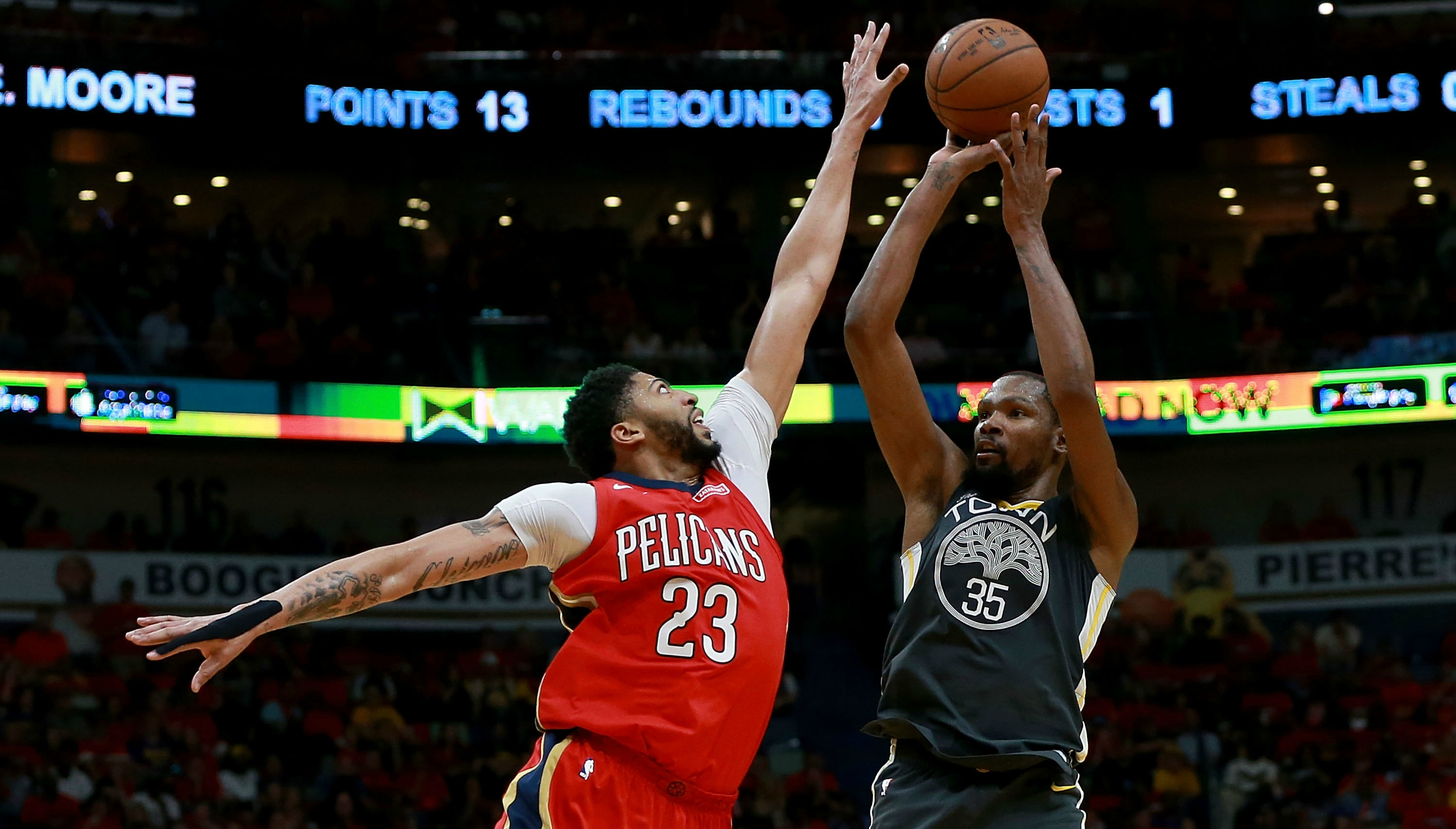 71eac91e067c Golden State Warriors break out Kevin Durant and  Death Lineup  in Game 4  against New Orleans Pelicans