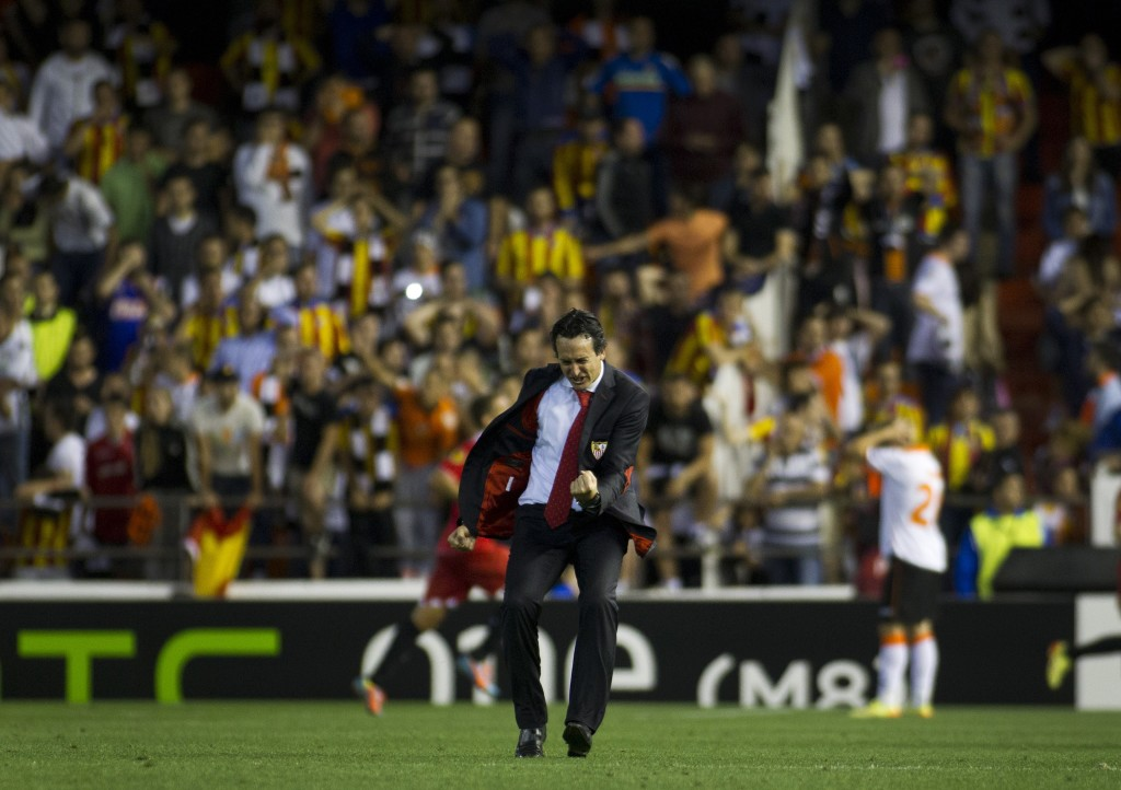 Emery led Sevilla to back to back Europa League titles.