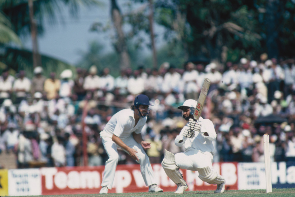 Ranatunga plays a shot during Sri Lanka's first Test.